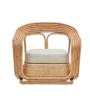 NEW!!  Elena Chair Frame Color - Natural Cushion Color - Cream
