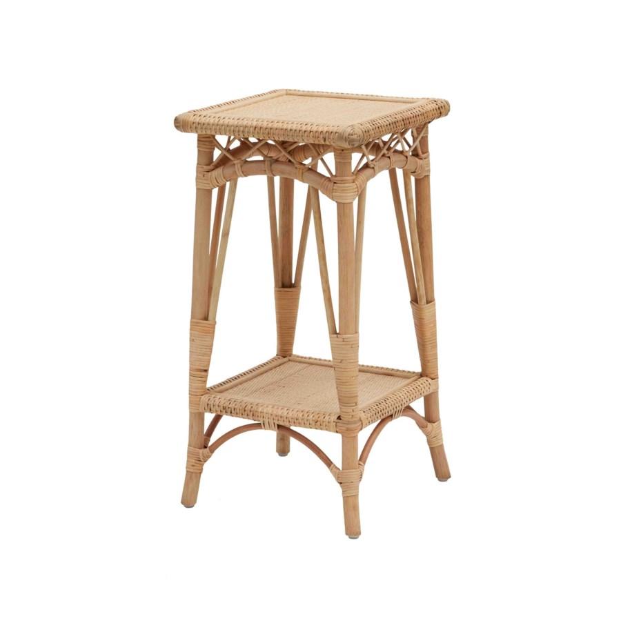 Charleston Pedestal Table Frame - Rattan Color - Natural