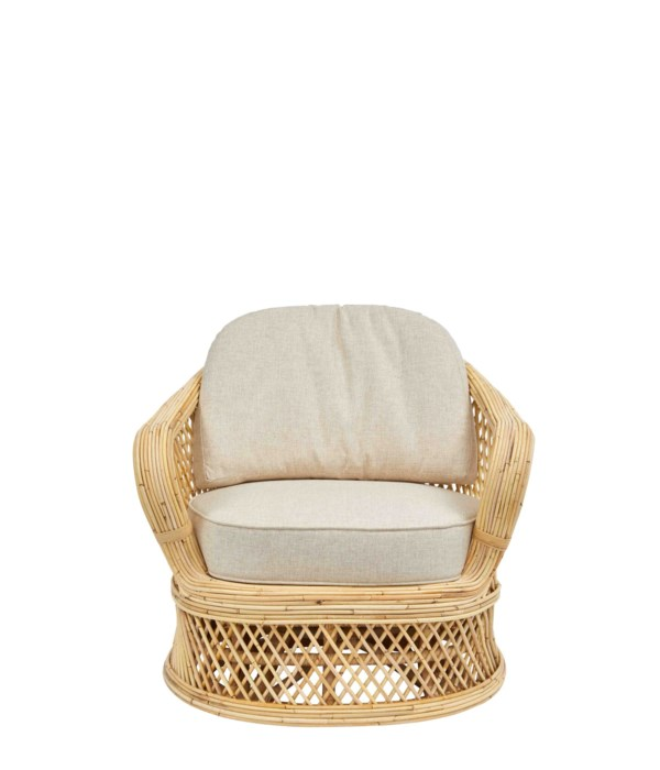 NEW!!  Bella Swivel Chair Frame Color - Natural Cushion Color - Cream