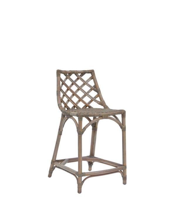 NEW!!  Sara Counter Chair Color - Matte Gray