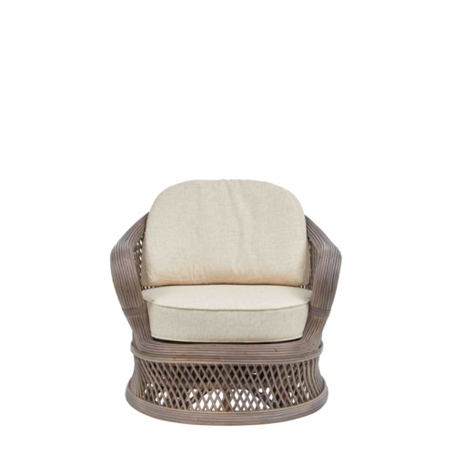 NEW!!  Bella Swivel Chair Frame Color - Matte Gray Cushion Color - Cream