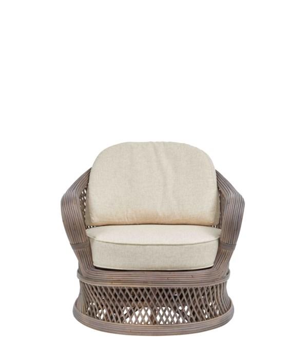 NEW!!  Bella Swivel Chair Frame Color - Matte Gray Cushion Color - Cream