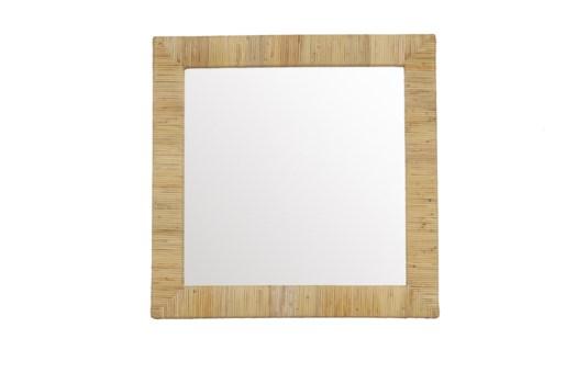 Bimini Square Mirror Color: Natural Finish: Clear