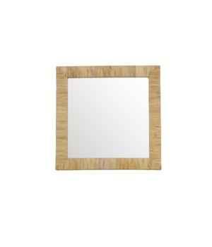 Bimini Square Mirror Color: Natural Finish: Clear