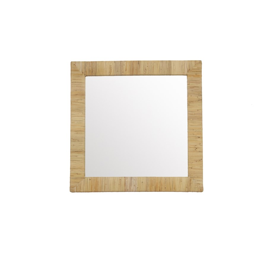 CLOSE-OUT - Buy1Get1 Free! Bimini Square Mirror  Color - Natural This Item Will Be Discontinued