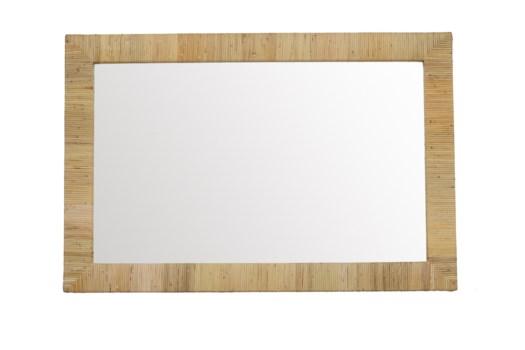 Bimini Rectangle Mirror Color: Natural Finish: Clear