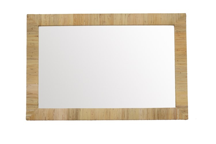 Bimini Rectangle Mirror Color: Natural Finish: Clear