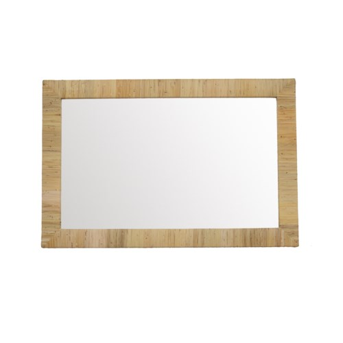CLOSE-OUT - 25% Off! Bimini Rectangle Mirror  Color - Natural This Item Will Be Discontinued.