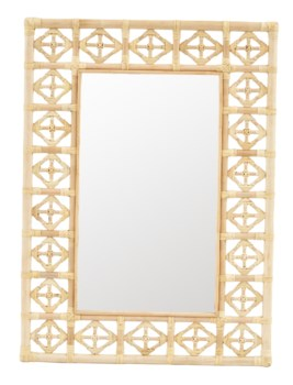 Rectangular Diamond Pattern MirrorColor: Natural