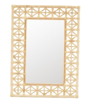 Rectangular Diamond Pattern Mirror Color - Natural