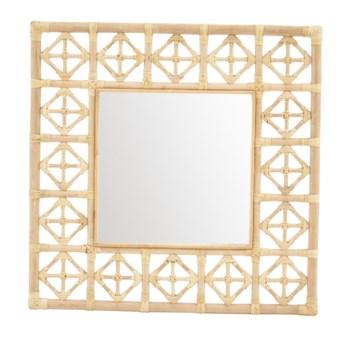 "Square Diamond Pattern MirrorFrame - NaturalMirror Size 16 x 16"""