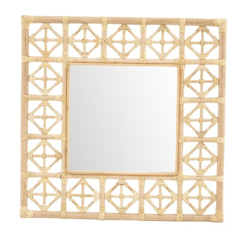 Square Diamond Pattern MirrorColor  - NaturalMirror Size 16 x 16""