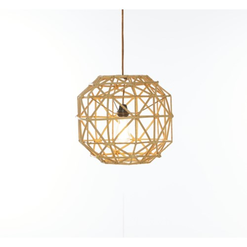 Hexagon PendantColor - Natural(hardwired pendant kit included; 60W)