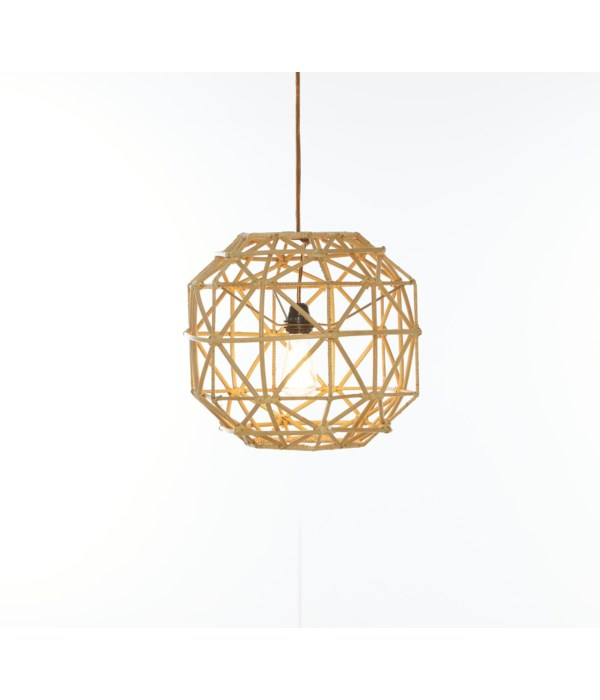 Hexagon Pendant Color - Natural (hardwired pendant kit included; 60W)CLOSE-OUT - 50% OFF!SOLD A