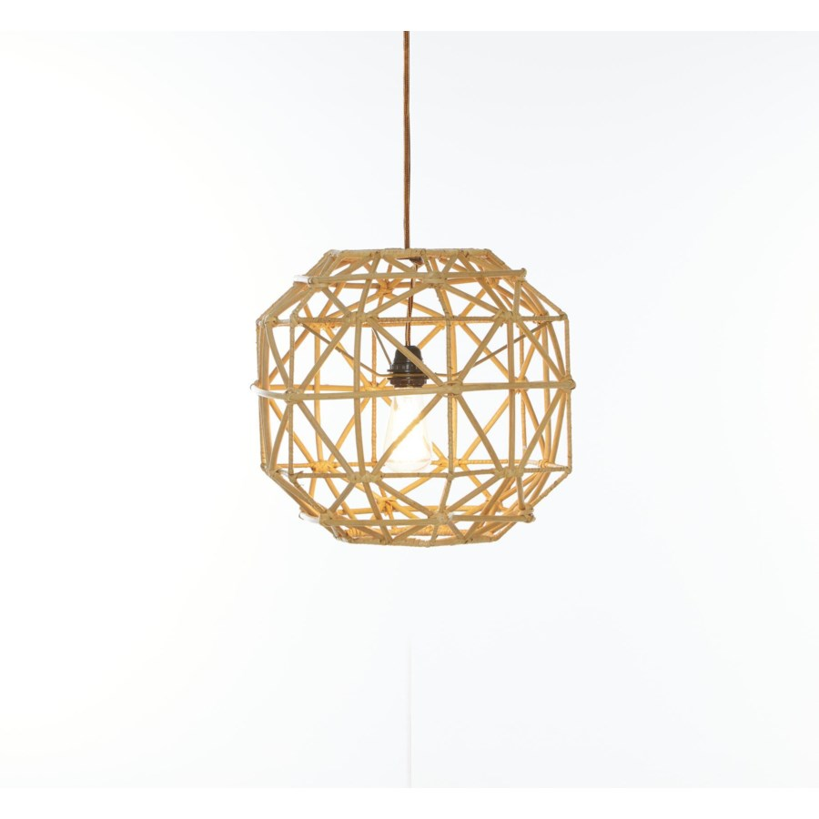 CLOSE-OUT - 50% OFF! Hexagon Pendant Color - Natural (hardwired pendant kit included; 60W)This