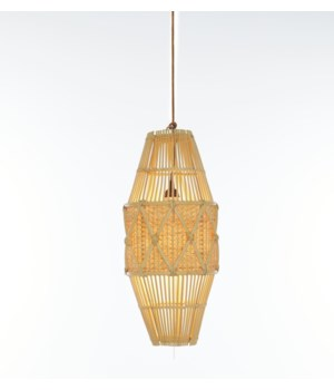 Round Pendant, SmallDiamond Basket Weave PatternColor -  Natural(hardwired pendant kit included;