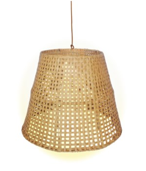 Large Basket Weave Pendant   Color - Natural (hardwired pendant kit included; 60W)