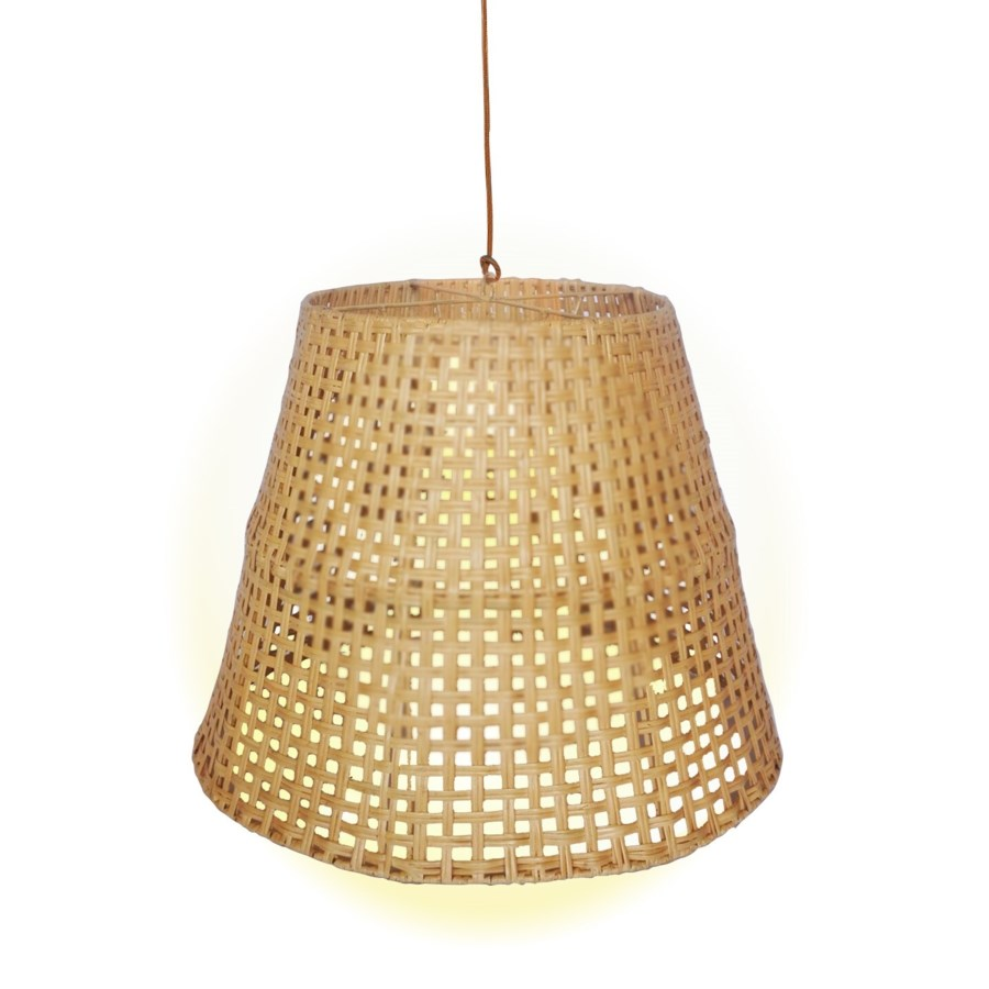 CLOSE-OUT - 50% OFF! Large Basket Weave Pendant   Color - Natural (hardwired pendant kit included