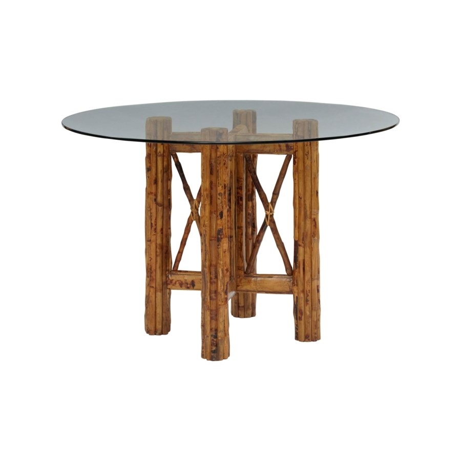 CLOSE-OUT - 15% Off!Bombay Table BaseColor - TortoiseGlass Top Not includedSome Assembly Require