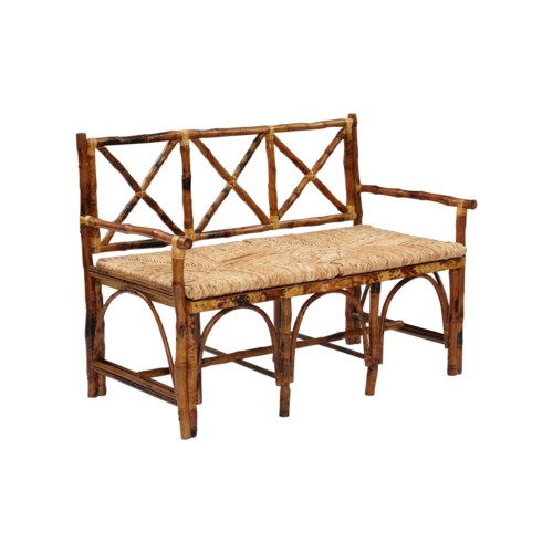 English BenchWoven Rush SeatFrame Color - TortoiseSome Assembly required