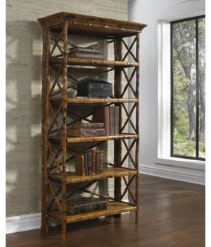 English Bookcase5 Shelf,  Flip -n-FoldFrame Color - Tortoise Some Assembly Required