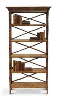 English Bookcase5 Shelf Folding Narrow, flip-n-foldFrame Color -TortoiseSome Assembly Required