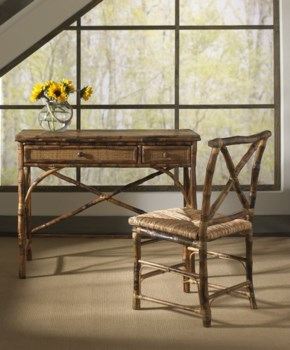 English Desk & ChairFrame Color - Antique Tortoise