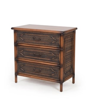 "Alhambra 30"" 3-Drawer ChestColor - Coffee"