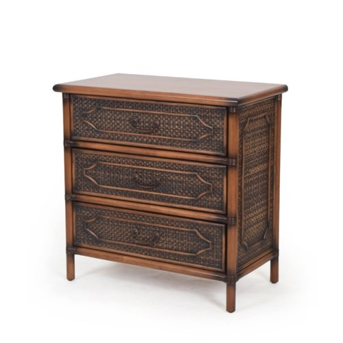 "Alhambra 30"" 3-Drawer Chest Color - Coffee"