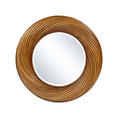 Buy1Get1 FREE! -Twisted Round MirrorColor - Toast Brown Item to be discontinued