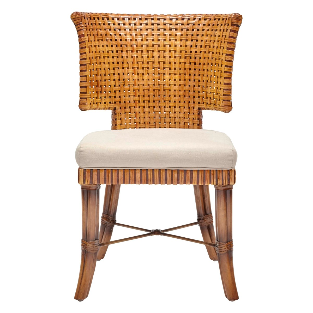 Sidney Chair Leather Color - Chestnut  Cushion Color - Cream