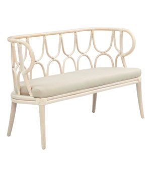"50% OFF UNPAINTED FRAME ONLY!  Simone Bench  Curved Back  Unpainted - ""Select Your Color""  Ratta"