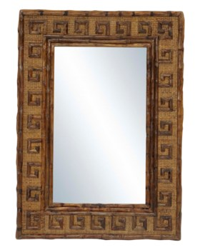 Greek Key MirrorFrame Color - Antique Tortoise2 hangers for vertical and horizontal hanging
