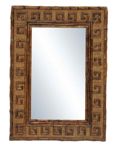 25% OFF -Greek Key MirrorFrame Color - Antique Tortoise2 hangers for vertical and horizontal hang