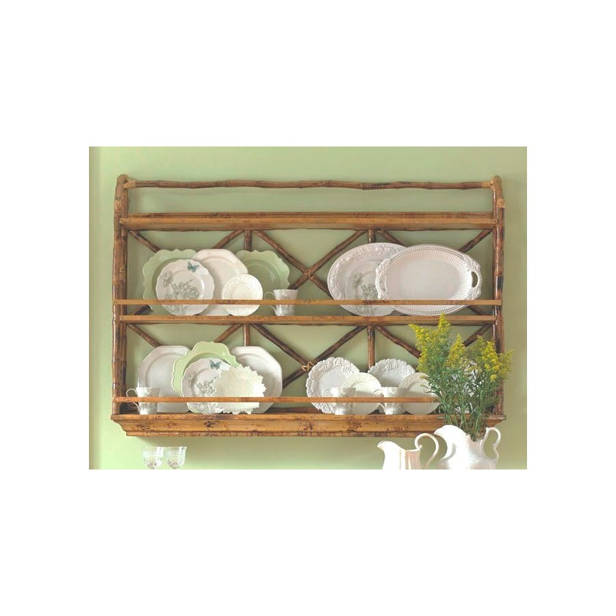 CLOSE-OUT - 50% OFF! Wall Display / Plate Rack Frame Color - Antique Tortoise This item will be