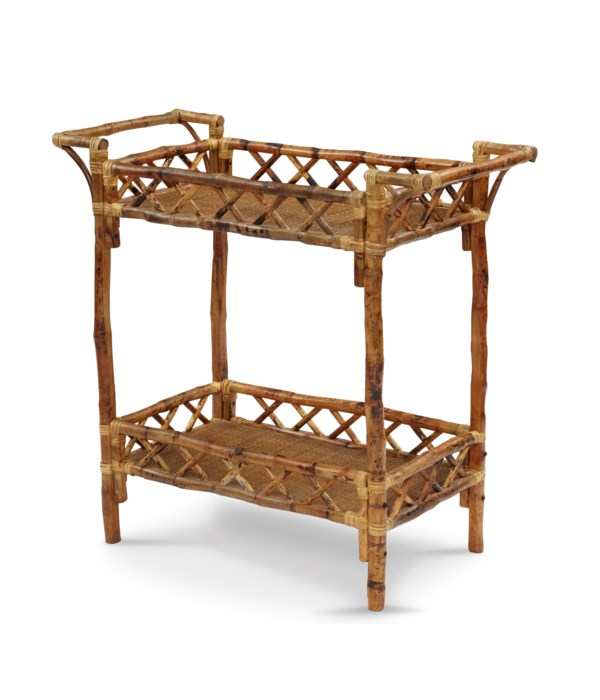 Beverage Stand  Frame Color - Antique Tortoise Some Assembly Required