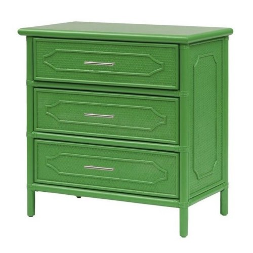 "30"" 3-Drawer Chest  Unpainted - ""Select Your Color""  Frame: Rattan & Wood"
