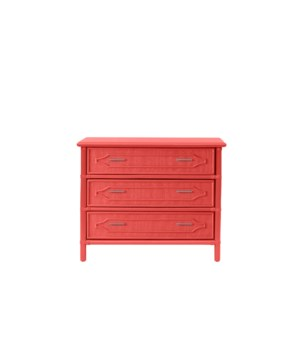 "36"" 3-Drawer Chest Unpainted - ""Select Your Color""  Frame: Rattan & Wood"
