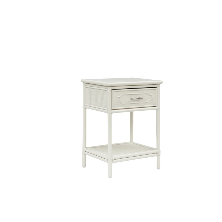 "Night Stand Unpainted - ""Select Your Color""  Frame: Rattan & Wood"