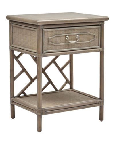 Side TableWoven Side and Drawer FrontsColor - Old Gray