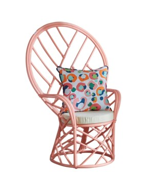 Chippendale Peacock Chair, Frame to be Painted, Cushion Natural, Pack 1, Ships via Truck