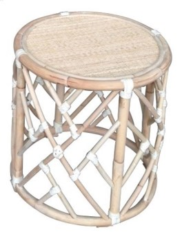 Chippendale Round Rattan Side Table, Frame to be Painted, Pack 1 Re-shipper