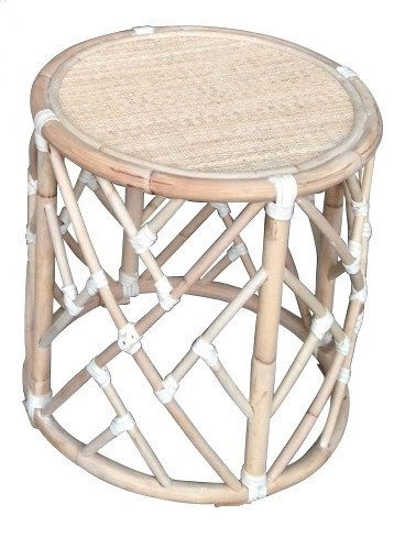 30% OFF UNPAINTED ONLY -Chippendale Round Rattan Side Table, Frame to be Painted, Pack 1 Re-shipper