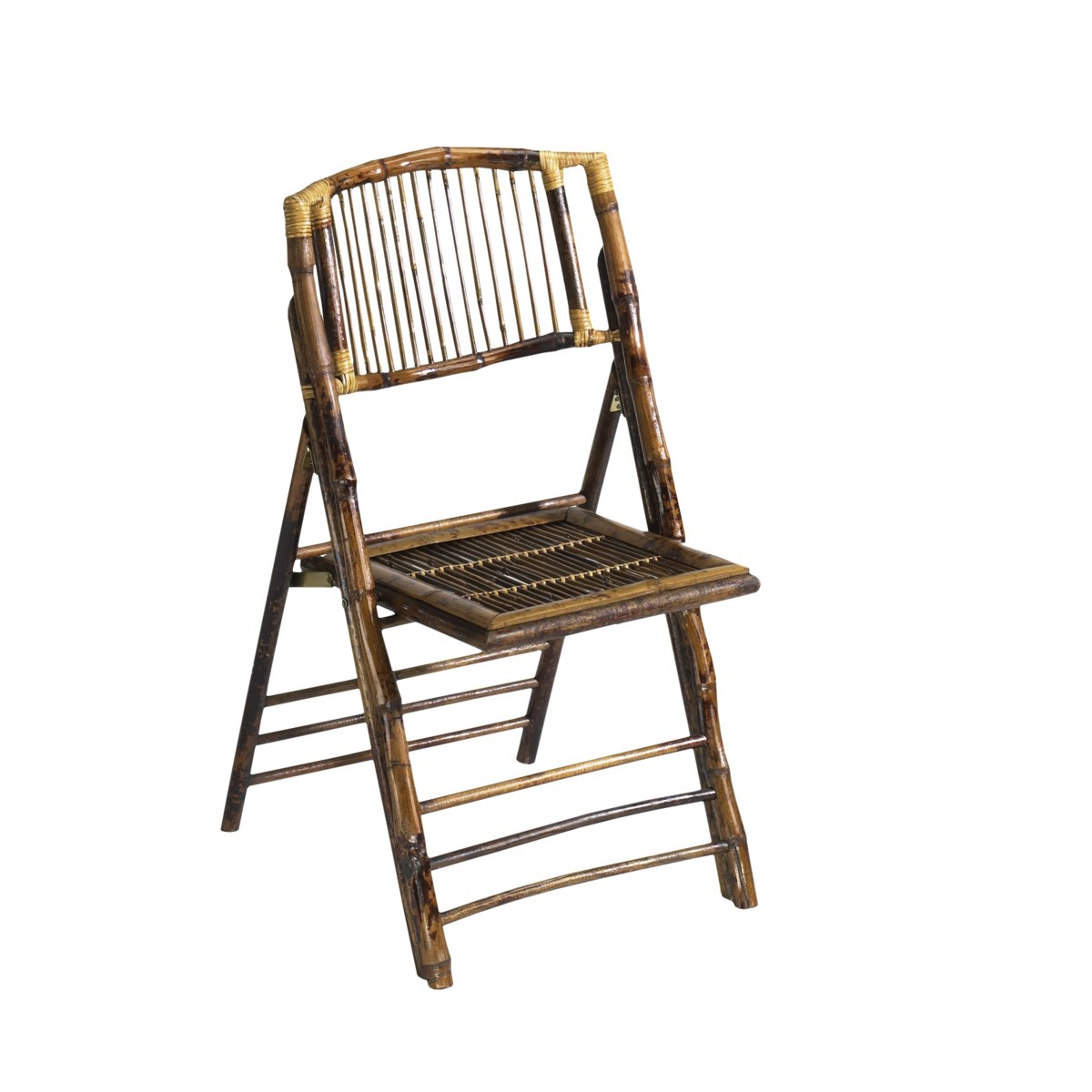 Folding Rattan Chair  Frame Color - Tortoise Gloss             Sold as a 4 pack ONLY  (Price Show