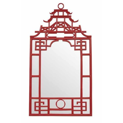 50% OFF UNPAINTED FRAME ONLY!Pagoda Mirror-Small Resin UNFINISHEDFor Paint ProgramAll Close-Out