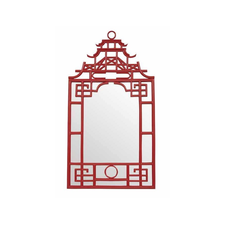 "50% OFF UNPAINTED FRAME ONLY!  Pagoda Mirror-Small Unpainted - ""Select Your Color""    Frame: Resi"