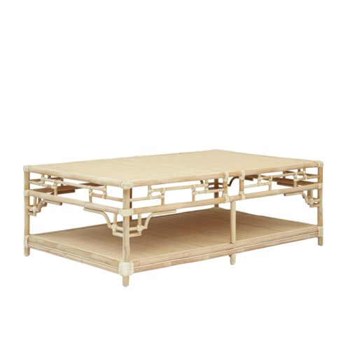 Pagoda Coffee Table Large, Frame to be Painted, Pack 1, Must ship via Truck