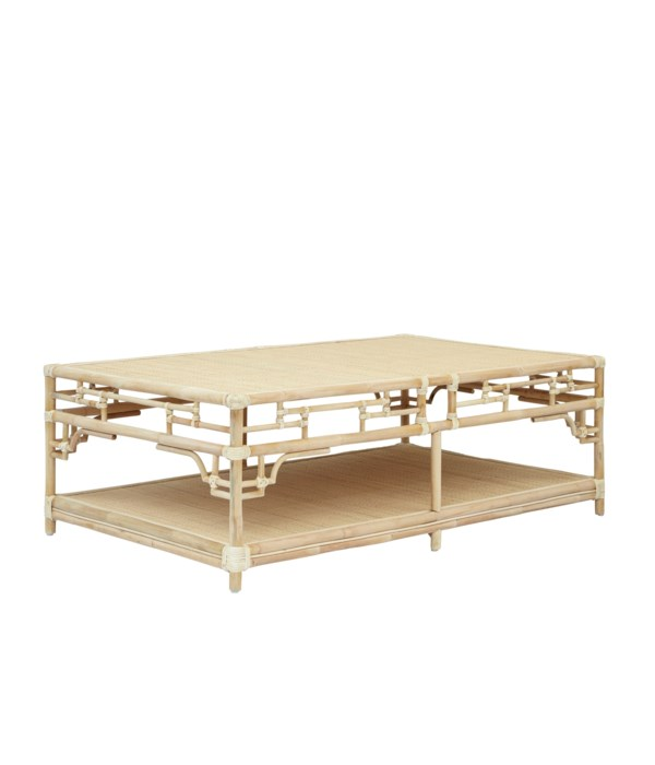 """50% OFF UNPAINTED FRAME ONLY!  Pagoda Coffee Table, Large  Unpainted - """"Select Your Color""""  Ratta"""