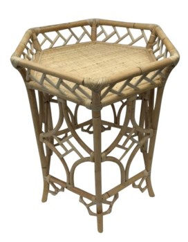 Pagoda Accent Table, Frame to be Painted, Pack 1 Re-shipper