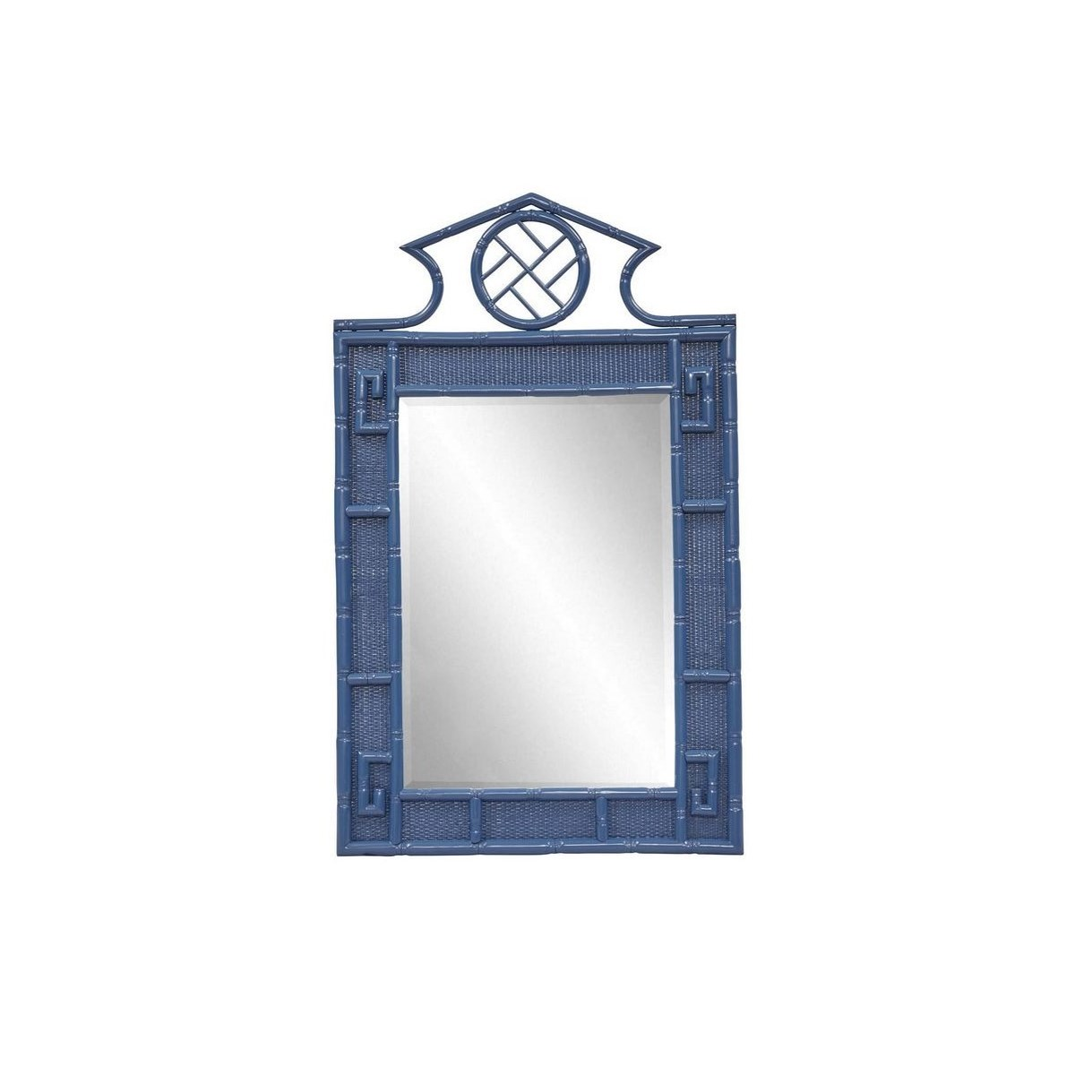"""50% OFF UNPAINTED FRAME ONLY!  Parthenon Mirror  Unpainted - """"Select Your Color""""   Frame: Rattan"""